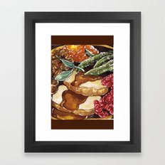 Turkey Dinner Framed Art Print
