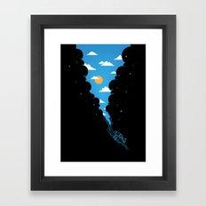 Skydiver Framed Art Print