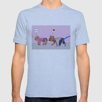 Puppy Love Mens Fitted Tee Athletic Blue SMALL