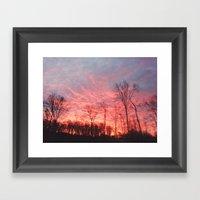 Fire In The Sky II Framed Art Print