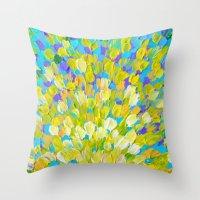 SPLASH 2 - Bright Bold O… Throw Pillow