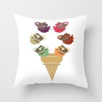 Chocolate Rippleboat Sun… Throw Pillow