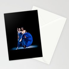 Blue dance Stationery Cards