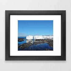 Icebergs Beached by the tides Framed Art Print