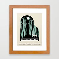 Rachmaninoff -  Prelude in C-Sharp Minor for Piano Framed Art Print