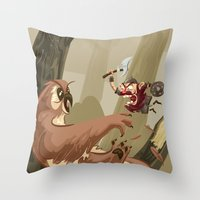 Knubby The Dwarf Fights … Throw Pillow