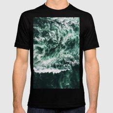 ocean waves Mens Fitted Tee Black SMALL
