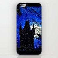 Snowfall At Full Moon iPhone & iPod Skin