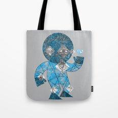 mesmerized by the light blue diamond Tote Bag