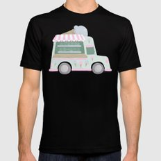 Ice Cream Truck Mens Fitted Tee Black SMALL