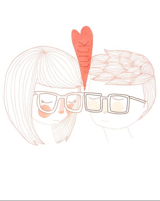 Nerd Kiss Art Print