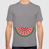 Watermelon Mens Fitted Tee Tri-Grey SMALL