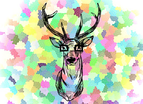 Deer are people too Art Print