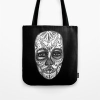 Floating Sugar Skull Tote Bag