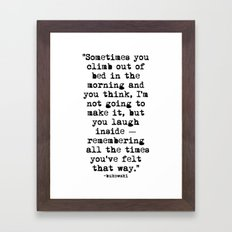 Charles Bukowski Typewriter Quote Morning Framed Art Print