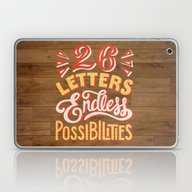 26 Letters Endless Possi… Laptop & iPad Skin
