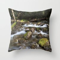 Paradise Creek I Throw Pillow