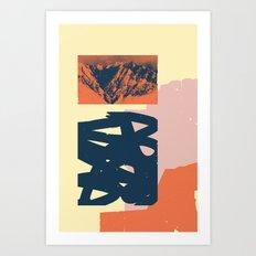 Malvarma Montoj Art Print