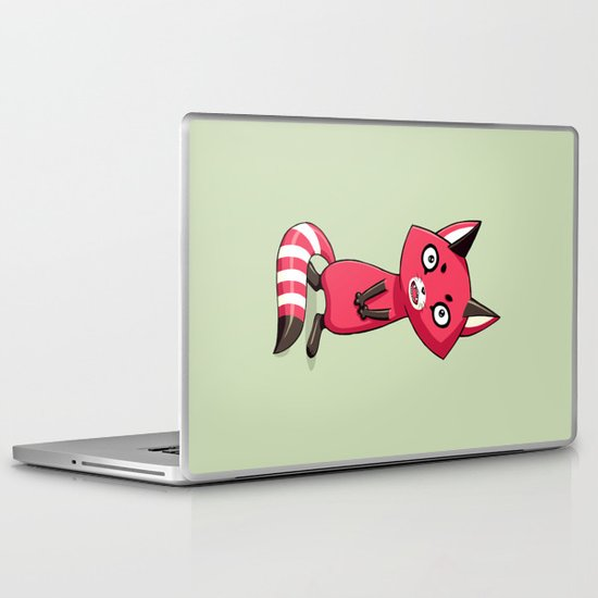 Shy Raccoon Laptop & iPad Skin