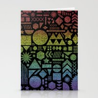 Modern Elements with Spectrum. Stationery Cards