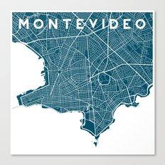 Montevideo City. Canvas Print