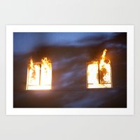Action Sequence. Art Print