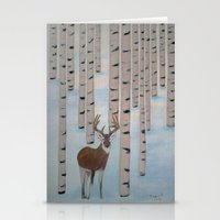 Winter Birch Stationery Cards