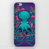 Octupus and Coral iPhone & iPod Skin