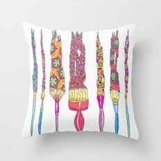 Painting Patterns Throw Pillow