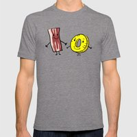 Bacon Pineapple Mens Fitted Tee Tri-Grey SMALL