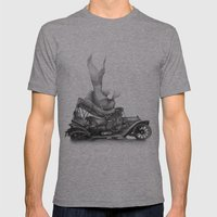 In Which A Goldfish Spoi… Mens Fitted Tee Athletic Grey SMALL