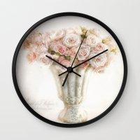 vintage roses Wall Clock