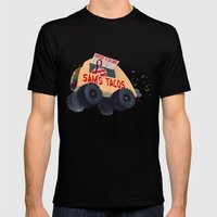 Sam's Monster Taco Truck Mens Fitted Tee Black SMALL