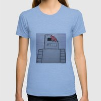 robot Womens Fitted Tee Athletic Blue SMALL