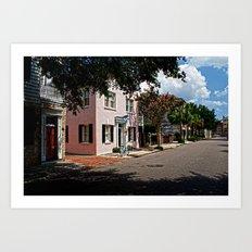 Side Street in Charleston Art Print