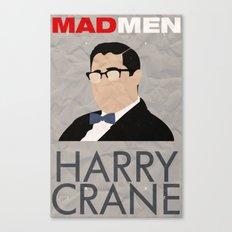 Mad Men - Harry Crane Canvas Print