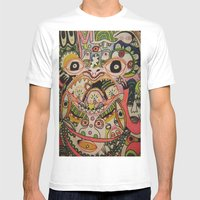 Doozy Mens Fitted Tee White SMALL