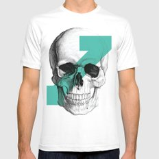 skull7 Mens Fitted Tee White SMALL