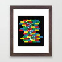 Brick in the Wall Framed Art Print