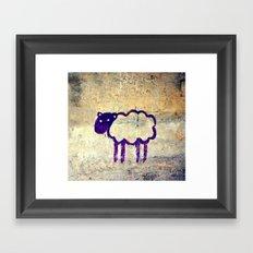 Just a Sheep Framed Art Print