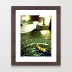 Smoking Room Framed Art Print