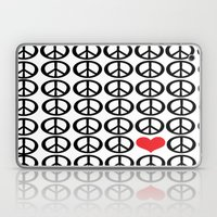 PEACE PEACE ANDLOVE Laptop & iPad Skin