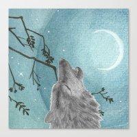 Howl Canvas Print