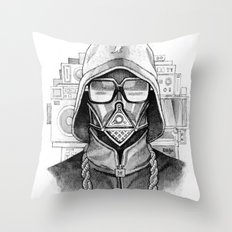Def Vader Throw Pillow
