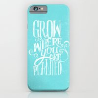 iPhone Cases featuring Grow Where You Are Planted by Matthew Taylor Wilson