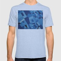 Blue Mens Fitted Tee Athletic Blue SMALL