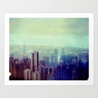 Hong Kong, Polaroid Art Print