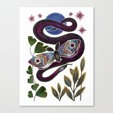 Moth & Snake Canvas Print