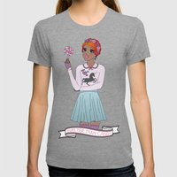 Sweeter Than Candy Womens Fitted Tee Tri-Grey SMALL
