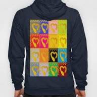 Gold Hearts On Colorful … Hoody